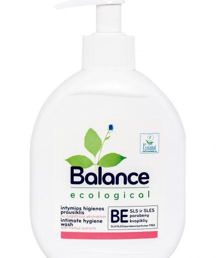 BALANCE ekologiškas intymios higienos prausiklis su augaliniais ekstraktais (275 ml)