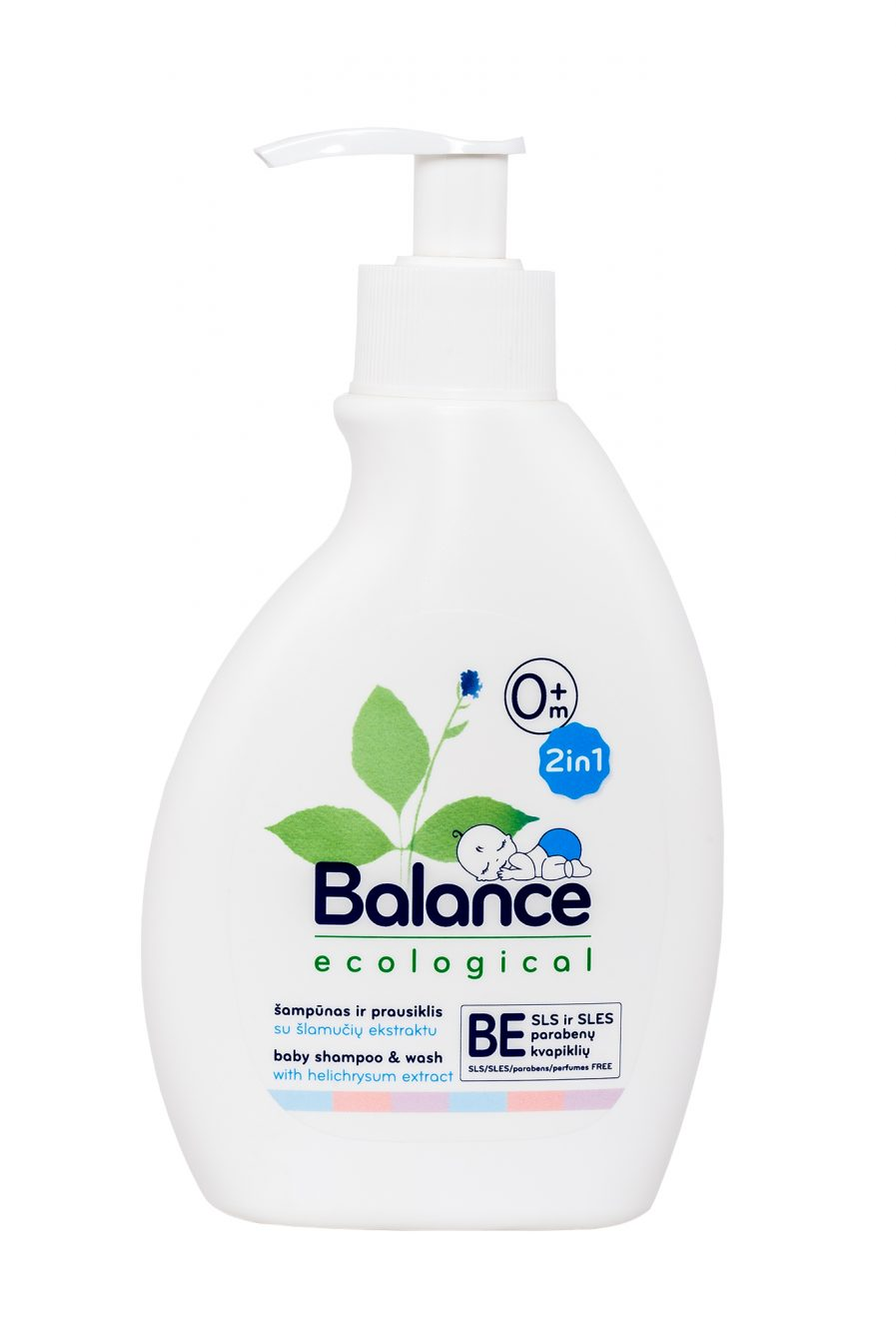 BALANCE ekologiškas šampūnas-prausiklis vaikams 2in1 (250 ml)