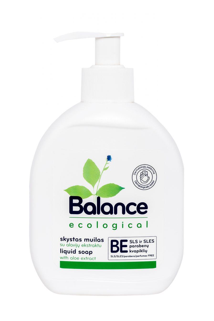 BALANCE ekologiškas skystas muilas su alavijų ekstraktu (275 ml)