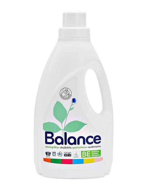 BALANCE ekologiškas skalbiklis spalvotiems audiniams (1.5 l)