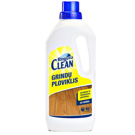 RINGUVA CLEAN grindų ploviklis su vašku medinėms grindims ir parketui (800ml)