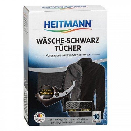 HEITMANN dažomosios skalbinių servetėlės juodos