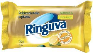 RINGUVA naturalus skalbiamasis muilas su glicerinu citrinų kvapo (150 g)