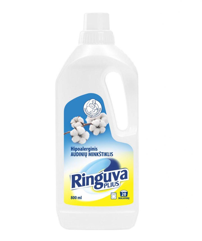 RINGUVA PLIUS hipoalerginis audinių minkštiklis su medvilnės ekstraktu (800 ml)