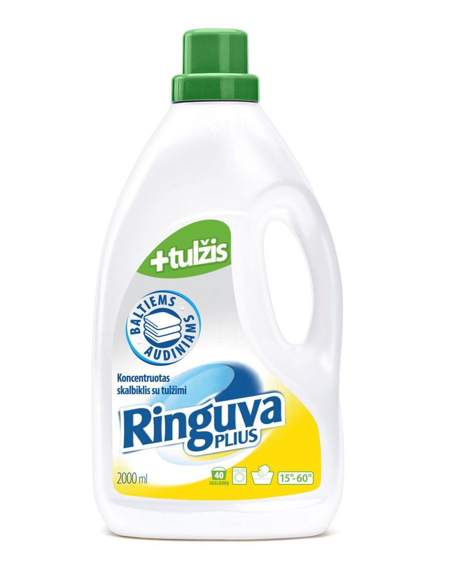 RINGUVA PLIUS skalbiklis su tulžimi baltiems audiniams (2l)