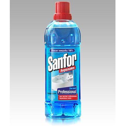 SANFOR professional Gelis akrilinių vonių ir džakuzi valymui(900ml)