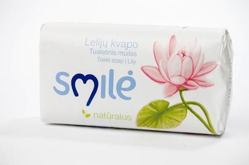 SMILĖ tualetinis muilas lelijų kvapo su ekologišku kremu (90g)