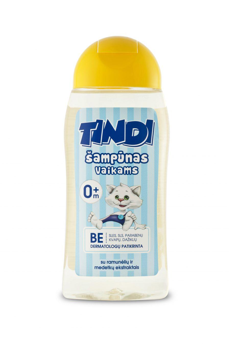 TINDI šampūnas vaikams su ramunėlių ir medetkų ekstraktais (210 ml)