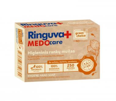 RINGUVA MEDO CARE higieninis rankų muilas su ekologišku citrinų eteriniu aliejumi ir pantenoliu (90 g)