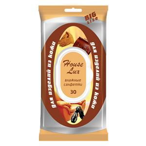HOUSE LUX Drėgnos servetėlės odos gaminiams(30vnt)