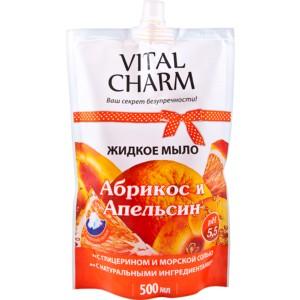 VITAL CHARM Skystas muilas Abrikosas ir Apelsinas(500ml)