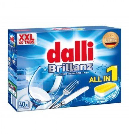 Dalli Brillanz indaplovės tabletės all in 1 (40vnt.)