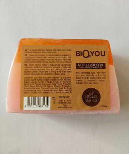 Bio2You natūralus rankų darbo muilas gintaras (250g)